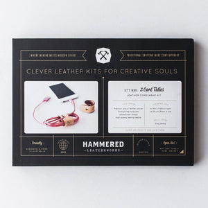 Cord Tidies Kit Hammered Leatherworks DIY kit