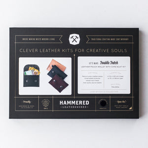 Double Dutch Mini Wallet Kit Hammered Leatherworks DIY kit