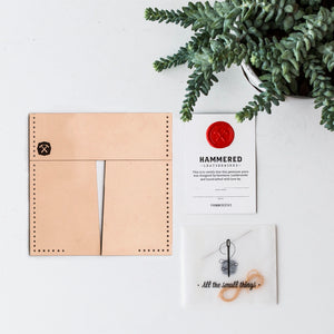 Flip-a-roo Card Wallet Kit Hammered Leatherworks DIY kit