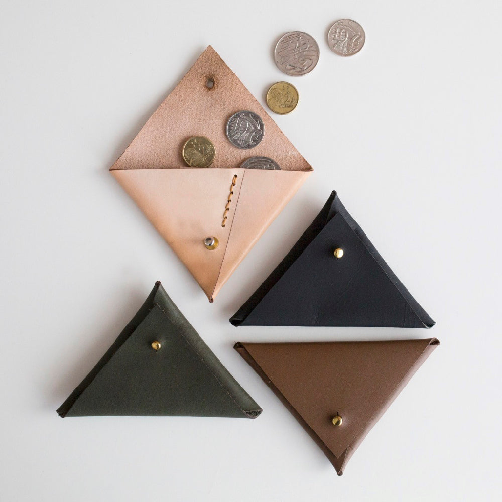 Hipster Triangle Pouch Kit Hammered Leatherworks DIY kit
