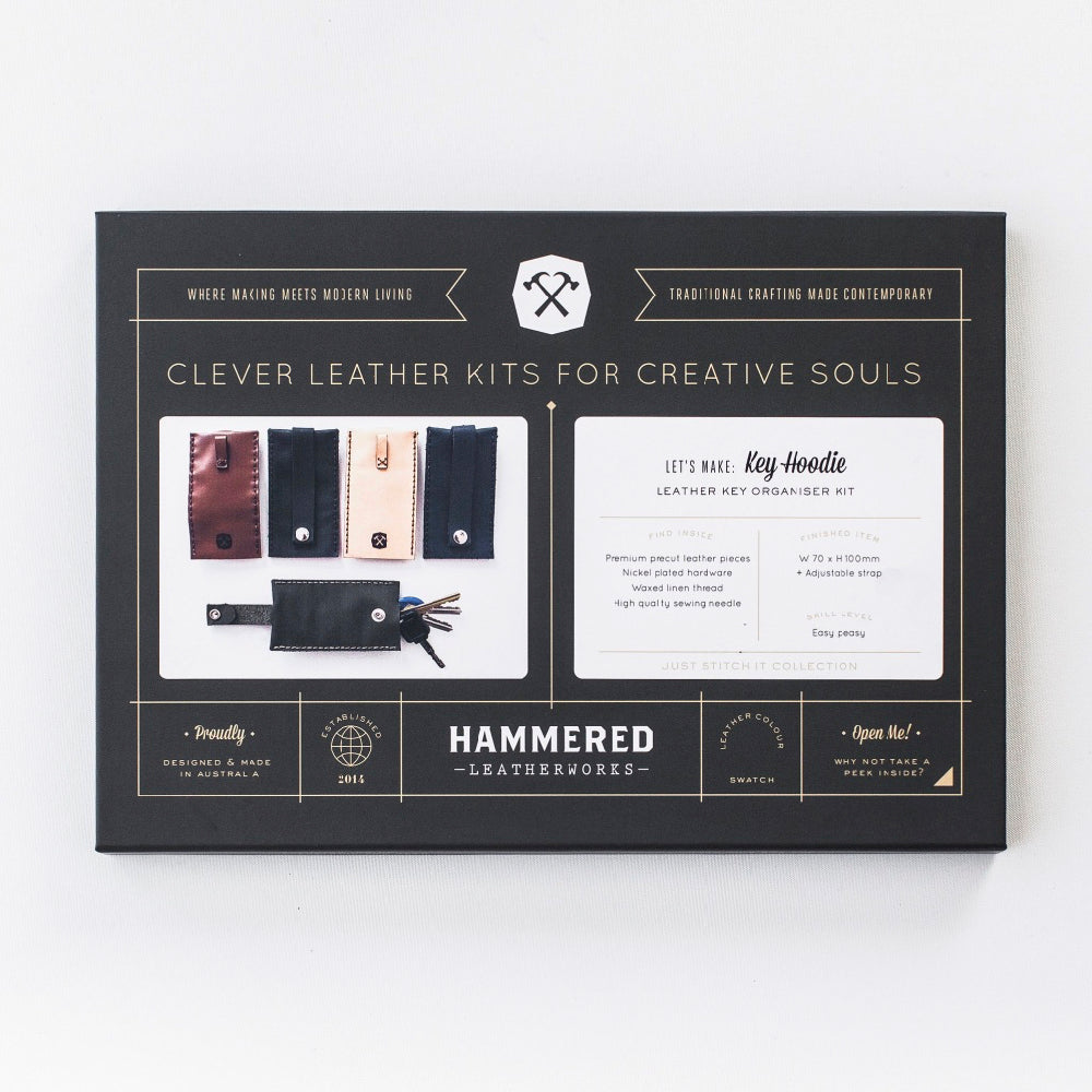 Key Hoodie Kit Hammered Leatherworks DIY kit