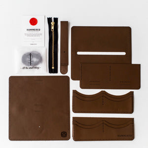 Long Wallet Kit Hammered Leatherworks DIY kit
