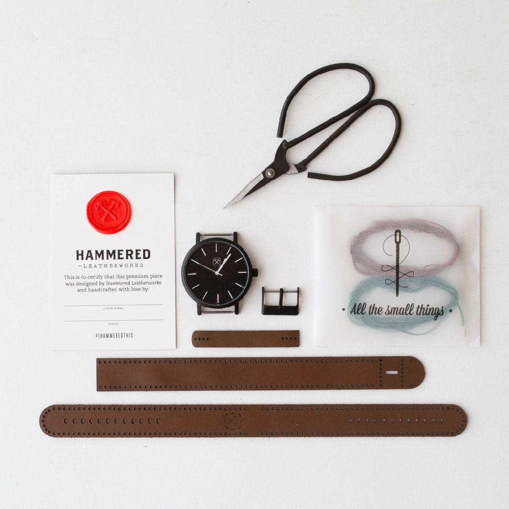 Original 42 Wrist Watch Kit Hammered Leatherworks DIY kit