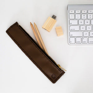 Pencil Case Kit Hammered Leatherworks DIY kit