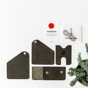 Poppys Pouch Wallet Kit Hammered Leatherworks DIY kit