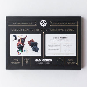 Pouchette Kit Hammered Leatherworks DIY kit