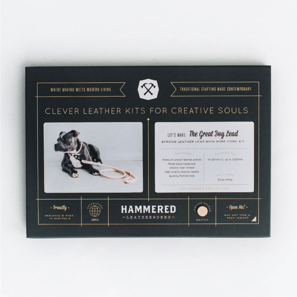 The Great Dog Lead Kit Hammered Leatherworks DIY kit