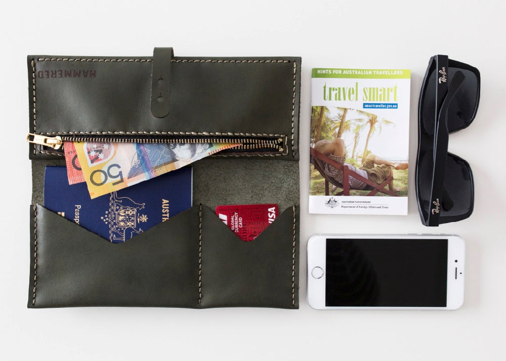 Travel Wallet Kit Hammered Leatherworks DIY kit