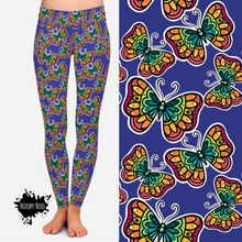 Stain Glass Butterfly - Buttery Soft Leggings