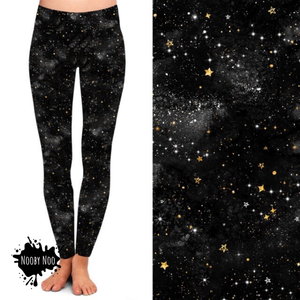 Galaxy Midnight Black - Buttery Soft Leggings