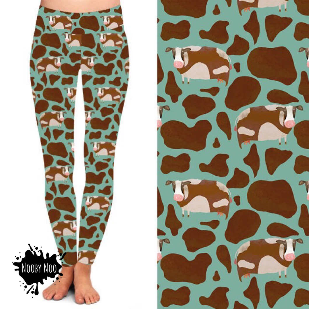 Gentle Cow Print - Buttery Soft Leggings