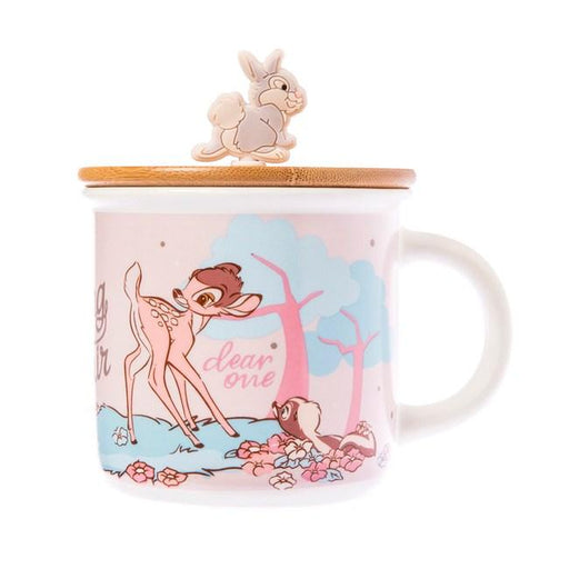 Taiwan Exclusive - Disney Cherry Blossom Season Bamboo Lid Mug 320ml - Bambi