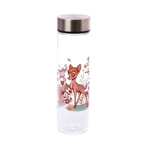 Taiwan Exclusive - Disney Cherry Blossom Season Glass Water Bottle with Bag 500ml - Bambi