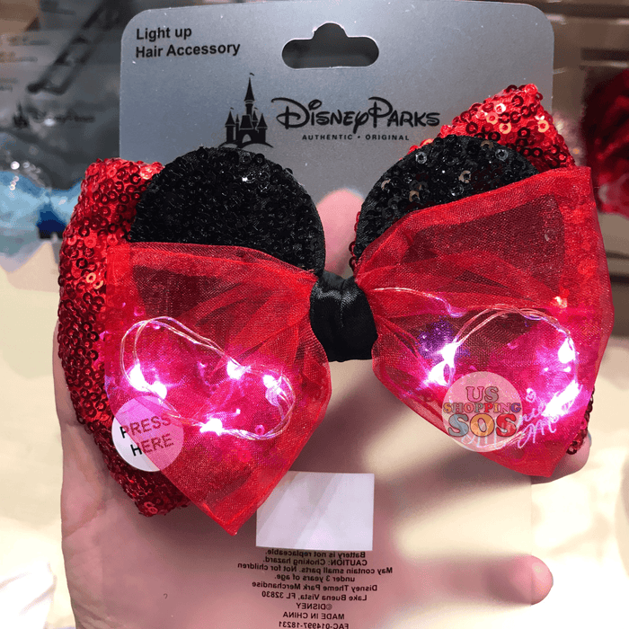 DLR - Light Up Bow Hair Clip - Minnie Mouse