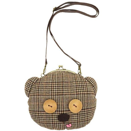 USJ - Bob's Favorite Bear - Minion Purse Shoulder Bag (Tim) x Plaid Print