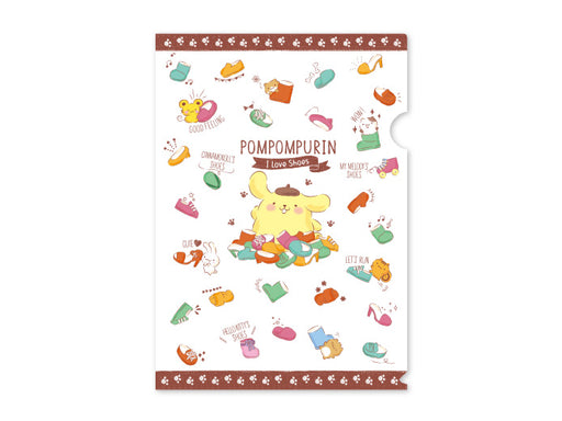 Japan Sanrio Puroland - Pompompurin I Love Shoes - A4 Clear File