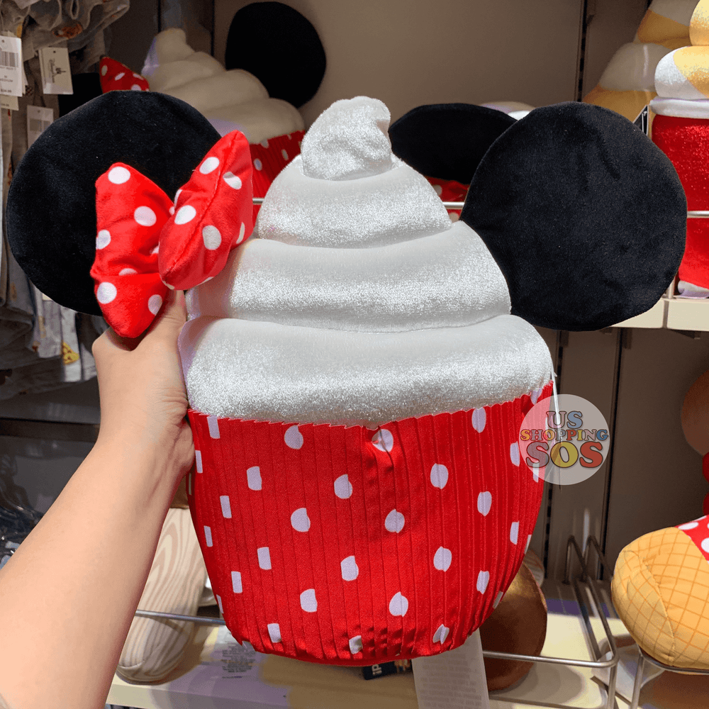 DLR - Disney Parks Food - Cushion Plush - Minnie Cupcake
