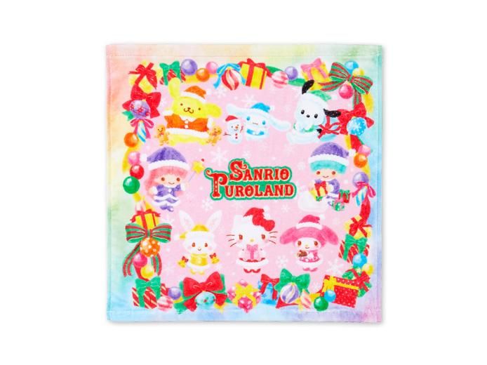 Japan Sanrio Puroland - Rainbow Christmas 2020 - Hand Towel