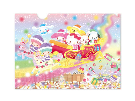 Japan Sanrio Puroland - Rainbow Christmas 2020 - A4 Clear File