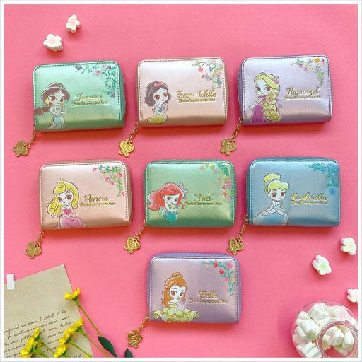 Taiwan Exclusive - Disney Princess Dream Come True Princess Colorful Split Coin Storage Wallet Bag-9 colors in total