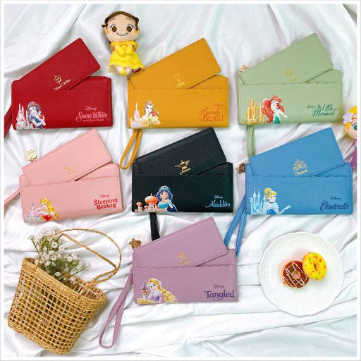 Taiwan Exclusive - Disney Classic Series Princess Watercolor Hand-Painted Romantic Lace Long Wallet-7 colors in total