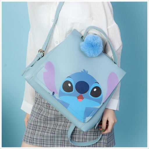Taiwan Exclusive - Disney Character Face Portrait Backpack with Pom Pom - Stitch