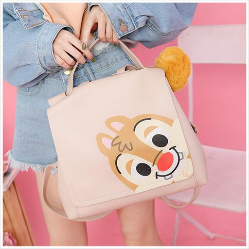 Taiwan Exclusive - Disney Character Face Portrait Backpack with Pom Pom - Dale
