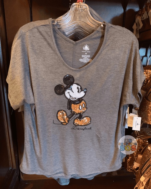 "DLR - Briar Rose Gold - Mickey ""Disneyland"" Sequin T-shirt (Adult)"
