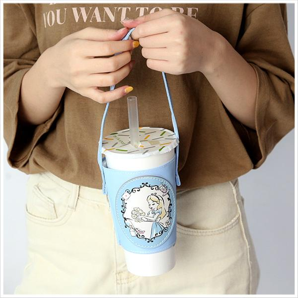Taiwan Exclusive - Disney Character Eco-Friendly Canvas Cup Carrier - Alice in Wonderland