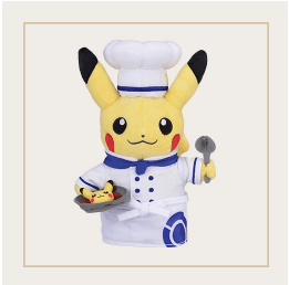 Japan Exclusive - Pokémon Cafe Chef Pikachu Plush Toy
