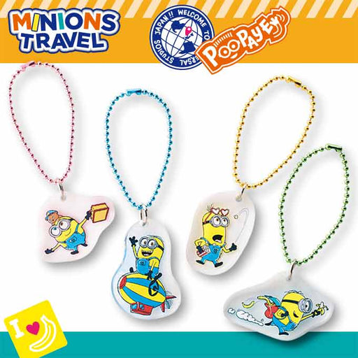 USJ - Minions Travel - Keychain Set of 4