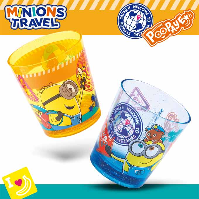 USJ - Minions Travel - Acrylic Cup Set of 2