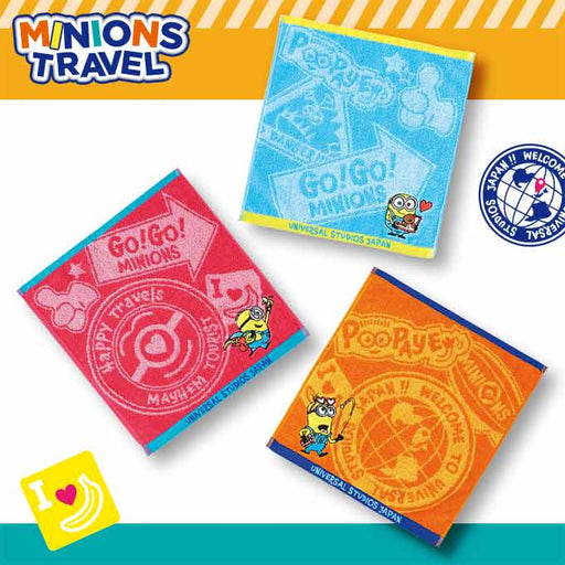 USJ - Minions Travel - Hand Towel Set of 3