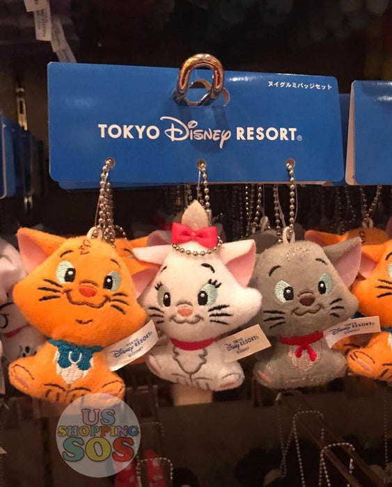 TDR - Plush Keychains Set - Marie, Berlioz, and Toulouse
