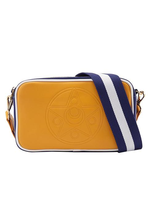 Taiwan Exclusive - Sailor Moon Crystal Star Brooch Embossing Colorful Shoulder Bag (Sailor Venus/Ochre)