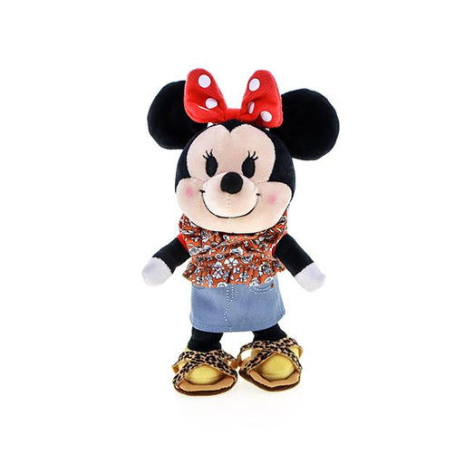 HKDL - nuiMOs Outfit x Floral Print Shirt, Denim skirt and Animal printed Sandals Set