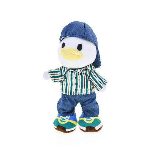 HKDL - nuiMOs Outfit x Stripe Pattern Shirt, Denim trouser, Denim Cap and Sneakers