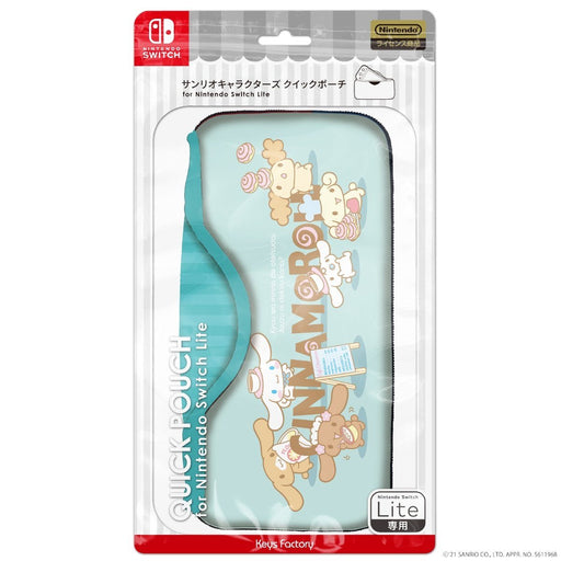 Japan Sanrio - Quick Pouch for Nintendo Switch Lite x Cinnamoroll