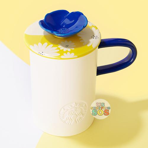 Starbucks China - Summer Blossom 2020 - Splendid Flower Yellow Lid Mug 473ml