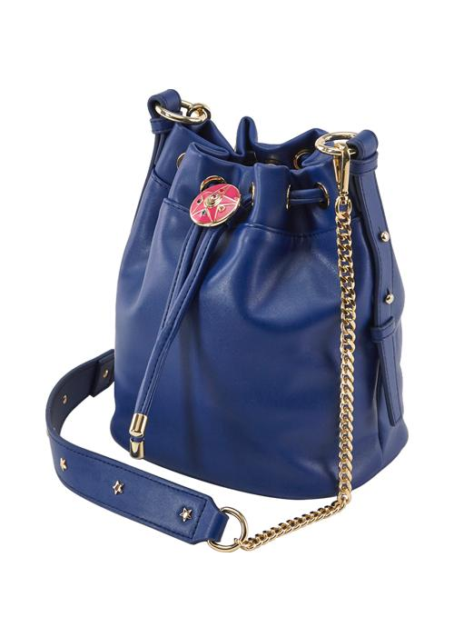 Taiwan Exclusive - Sailor Moon Crystal Star Brooch Drawstring Chain Bag (Sailor Moon/Dark Blue)