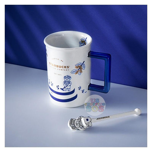 Starbucks China - Qinghua (Blue and White) Style Series - Ceramic Mug with Stir 480ml