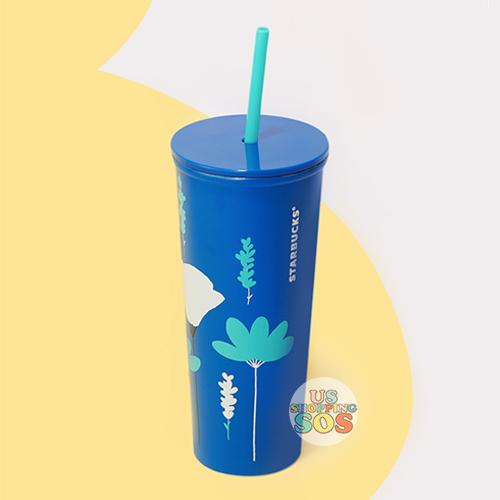Starbucks China - Summer Blossom 2020 - Gorgeous Summer Blue Stainless Steel Cold Cup 591ml