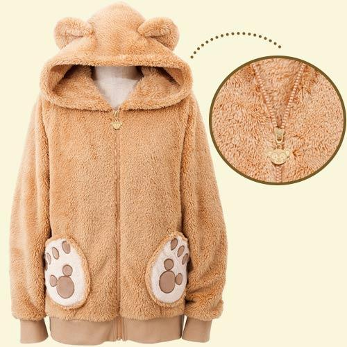 HKDL - Duffy & Friends - Fluffy Zip Hoodie x Duffy