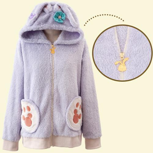 HKDL - Duffy & Friends - Fluffy Zip Hoodie x StellaLou