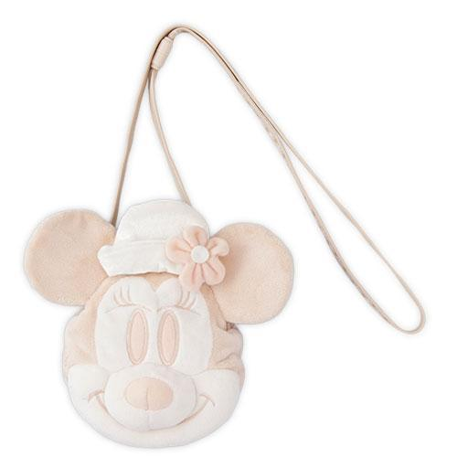 TDR - Crossbody Plush Passholder - Minnie Mouse (White)