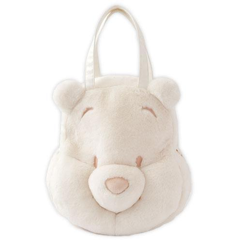 TDR - Winnie the Pooh Face Icon Big Tote Bag (White)