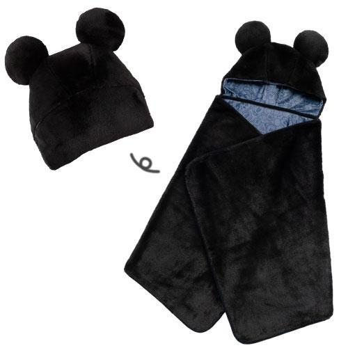 TDR - Multi- Functions Blanket x Mickey Mouse (Black)