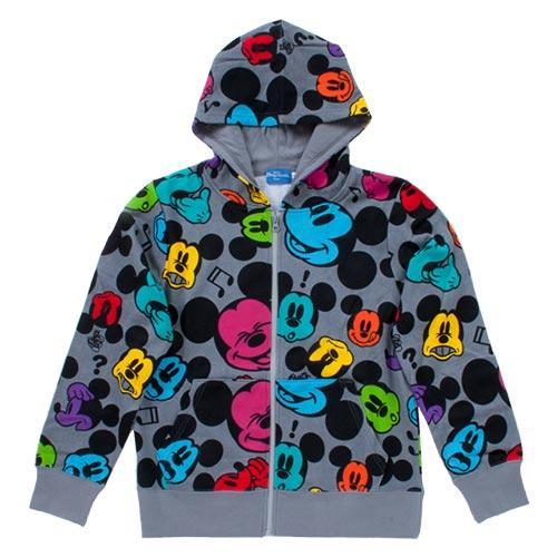 TDR - Hoodies Jacket x All-Printed Mickey Mouse (Grey)
