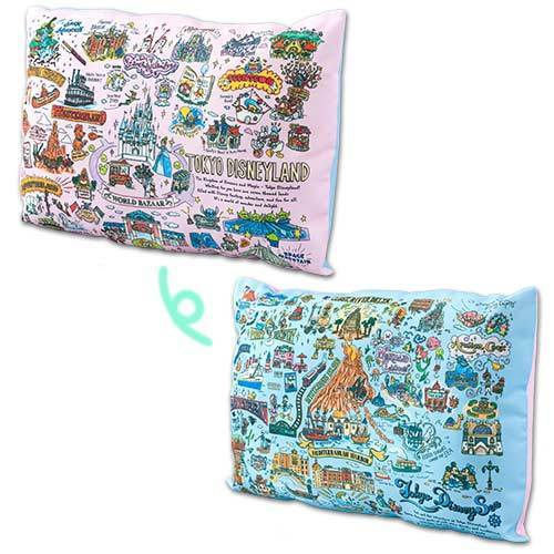 TDR - Tokyo Disney Resort Fun Map Collection - 2 Sided Cushion/Pillow