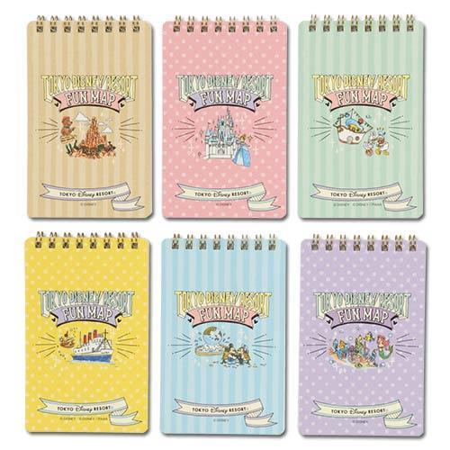 TDR - Toyko Disney Resort Fun Map Collection - Note books Set